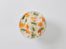 Jasmine rice with carrot and string beans Royalty Free Stock Images