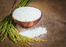 Jasmine Rice In A Bowl Royalty Free Stock Photo