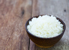 Jasmine rice in a rice bowl Royalty Free Stock Photo