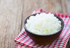 Jasmine rice in a rice bowl Stock Photography