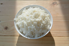 Jasmine rice in white cup Royalty Free Stock Images