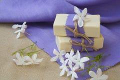 Jasmine soap Stock Photos