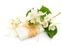 Jasmine soap Stock Image