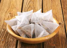 Jasmine tea bags Stock Photos