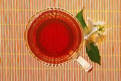 Jasmine tea with flowers Royalty Free Stock Photo
