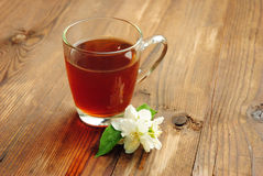 Jasmine tea with jasmine flower Royalty Free Stock Photo