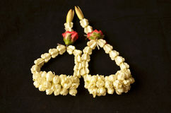 Jasmine wrist garlands for congratulatory festival. On white background Stock Photography
