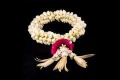 Jasmingirlande von Blumen Stockfotos