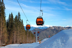 jasna低手段滑雪斯洛伐克tatras 图库摄影