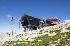 Jasna, cableway budynek pod Chopok górą, Nizke Tatry, Niski Tatras, Niskie Tatrzańskie góry, Sistani Zdjęcie Stock