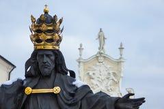 从Jasna Gora修道院的耶稣雕象 图库摄影