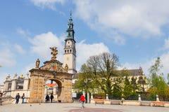 Jasna Gora fristad i Czestochowa, Polen Mycket viktigt och populärast pilgrimary ställe arkivfoton