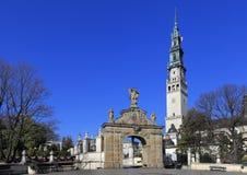 Jasna Gora Pauline Order Monastery en heiligdom in Czestochowa, Polen Royalty-vrije Stock Foto's