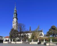 Jasna Gora Pauline Order Monastery och fristad i Czestochowa, Polen Arkivfoto