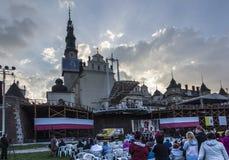 Jasna Gora, Polônia, o 13 de maio de 2017: Adoração com Mary a rainha sobre Imagens de Stock