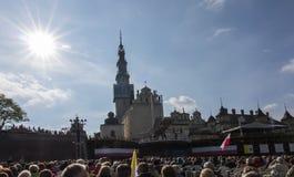 Jasna Gora, Polen, am 13. Mai 2017: Anbetung mit Mary die Königin an Lizenzfreies Stockfoto