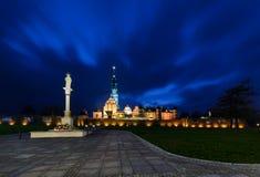 Jasna Gora sanktuarium w Częstochowskim w nocy Zdjęcia Royalty Free