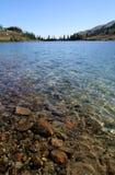jasna jeziora kręgu wody Obrazy Royalty Free
