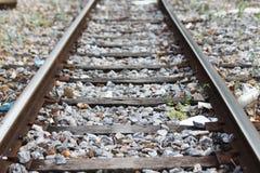 jasna kolej dla pociągu Zdjęcie Royalty Free