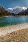 Jasna Lake, gamma-Kranjska Gora, Slovenia della montagna Fotografie Stock Libere da Diritti