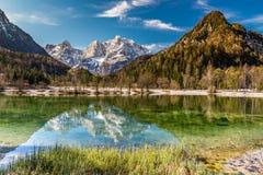 Jasna Lake, gamma-Kranjska Gora, Slovenia della montagna Fotografia Stock Libera da Diritti