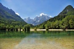 Jasna lake, Kranjska gora, Slovenia. Jasna lake near Kranjska gora town, Slovenia royalty free stock image