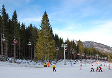 Jasna Low Tatras ski resort Royalty Free Stock Photo