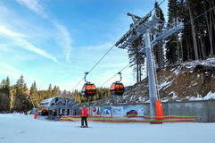 Jasna Low Tatras ski resort Royalty Free Stock Photos