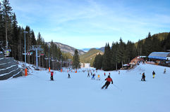 Jasna niedriger Tatras Skiort lizenzfreies stockfoto