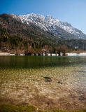 Jasna sjö, Kranjska Gora, Slovenien Arkivfoton