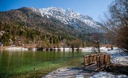 Jasna sjö, Kranjska Gora, Slovenien Royaltyfri Fotografi