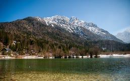 Jasna sjö, Kranjska Gora, Slovenien Royaltyfria Foton