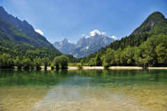 Jasna sjö, Kranjska Gora, Slovenien Royaltyfri Bild