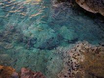 jasna woda morska Fotografia Royalty Free