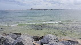 Jasna woda na Floryda plaży Obraz Stock