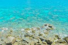 Jasna woda na z Lipe wyspą Zdjęcie Stock