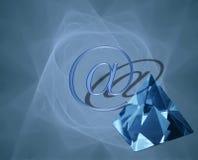 jasne crystal łączności ilustracja wektor