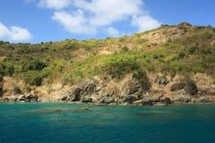 jasnej wyspy tropikalna woda Obrazy Royalty Free