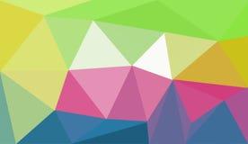 Jasnożółta poligonalna ilustracja która składał się trójboki, geometryczny tło royalty ilustracja