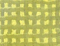 Jasnożółty tło z ciekawić falistą nafcianej farby teksturę Powierzchnia robić z paleta nożem zdjęcia royalty free