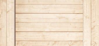 Jasnobrązowa drewniana desek, tabletop lub podłoga powierzchnia, Drewniana tekstura zdjęcia stock