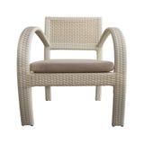 Jasnobrązowy Łozinowy krzesło Odizolowywający z ścieżką zdjęcie royalty free