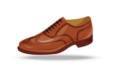 Jasnobrązowy, czerwony lub żółty Oxford but, Zdjęcia Stock