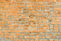 Jasnobrązowy kolor żółty ściana z cegieł zdjęcie stock