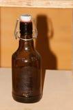 Jasnobrązowa butelka Zdjęcie Royalty Free