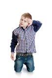 Jasnogłowa chłopiec fotografia stock