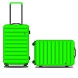 Jasnozielona dwa walizki Fotografia Royalty Free