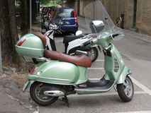 Jasnozielony Piaggio Vespa Zdjęcie Royalty Free