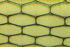 Jasnozielony tekstylny tło, wiosny rama obraz stock