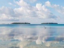 Jasny błękitny morza i nieba odbicie Fotografia Royalty Free